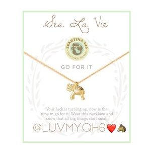 Sea La Vie Go For It Elephant Necklace